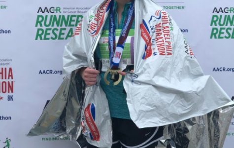 Maddy Casale, FCLC '20, ran the Philadelphia Marathon in 5 hours and 23 minutes.