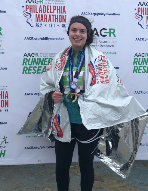 Photo+Courtesy+of+Maddy+Casale%0AMaddy+Casale%2C+FCLC+%E2%80%9920%2C+ran+the+Philadelphia+Marathon+in+5+hours+and+23+minutes.%0A