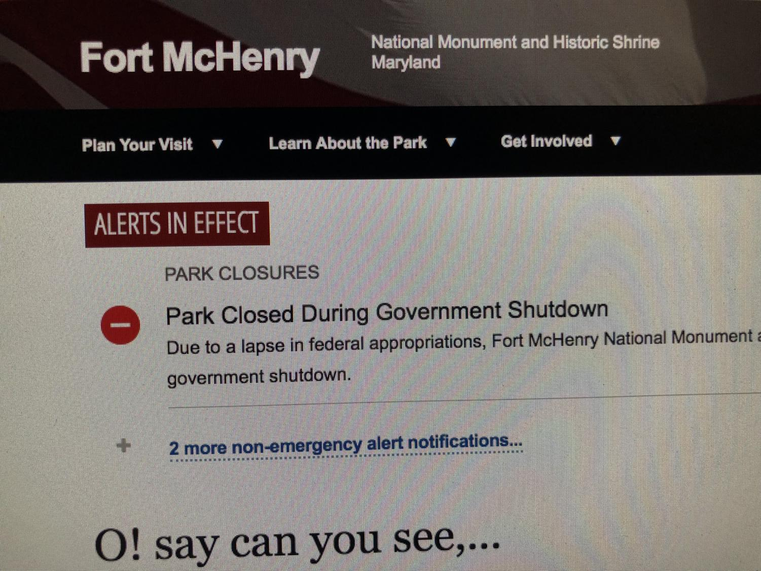 Jan.+19%2C+2019%3A+Fort+McHenry+online+page+announcing+that+the+national+park+is+still+closed+due+to+the+government+shutdown.