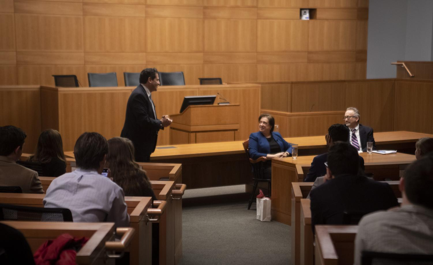 Matthew Diller, dean of Fordham Law School, hosted Supreme Court Associate Justice Elena Kagan to discuss her experience in the legal system.