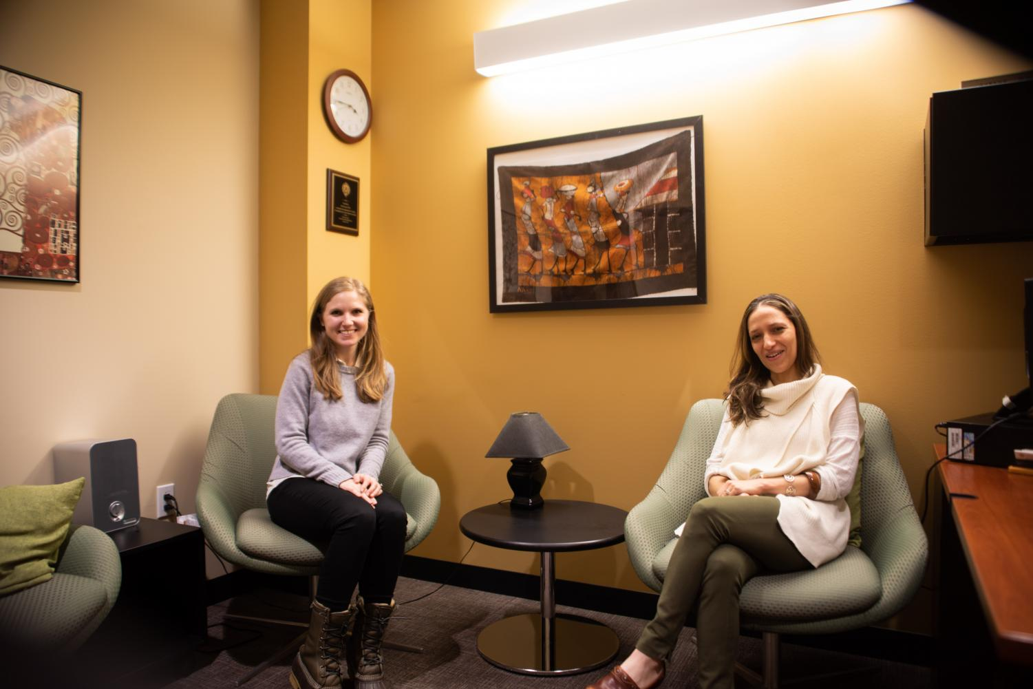 Yael Uness, the assistant director of counseling and psychological services, co-runs the relationships group with Nicole Rosenfield, a psychology Ph.D. candidate.