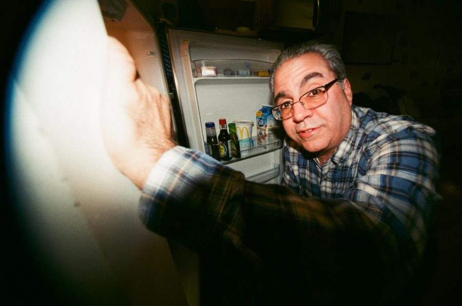 Joe's Dad in the fridge. February 2019.