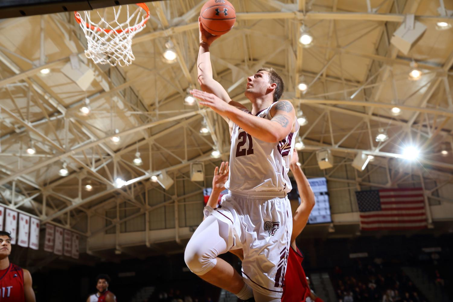 Fordham plays George Washington University in the first round of the Atlantic 10 Tournament without Forward Jesse Bunting.
