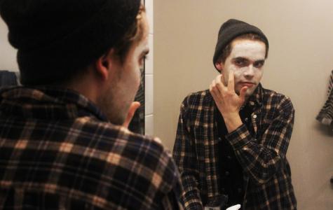 Luke Osborn winding down with a Glossier face mask.