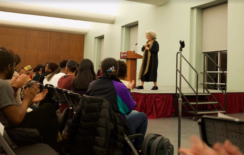ASILI, the Black Student Alliance at Rose Hill, hosts Angela Davis to observe Black History Month.