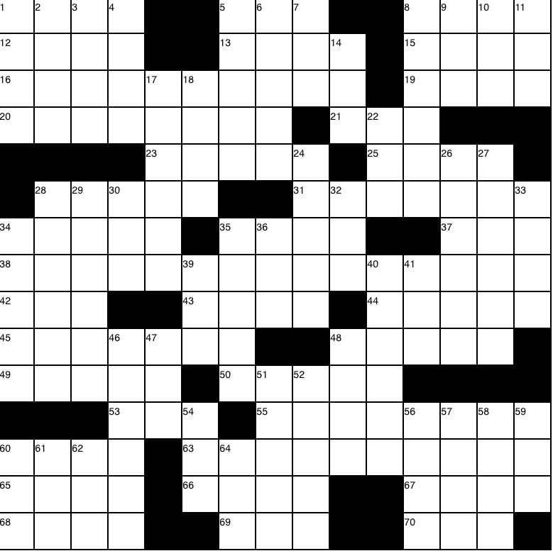 Issue 7 Crossword - 5/2/19