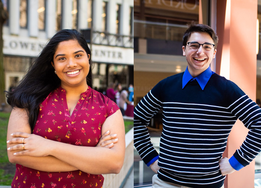 Tina Thermadam, FCLC '20, will be USG's next president. Robert Stryczek, GSB '21, will be the next vice president.
