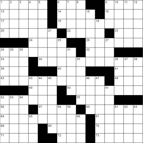June Crossword – Celestial Bodies
