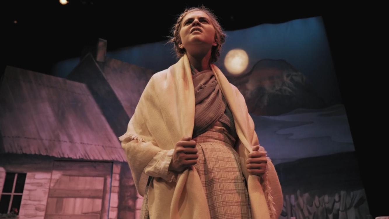 Harrington was cast as Bridin, a young and feisty farmgirl.