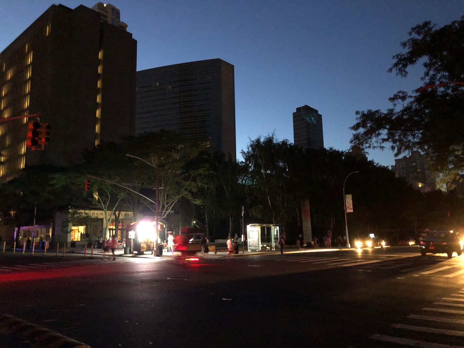 Fordham College at Lincoln Center was among the neighborhoods affected by the Con Edison power outage on Saturday.