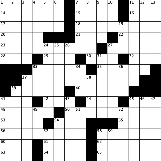 August Crossword