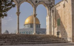 The Dome of the Rock, which is a religious site in all Judeo-Christian religions, is often used as a symbol for peace in the Middle East.