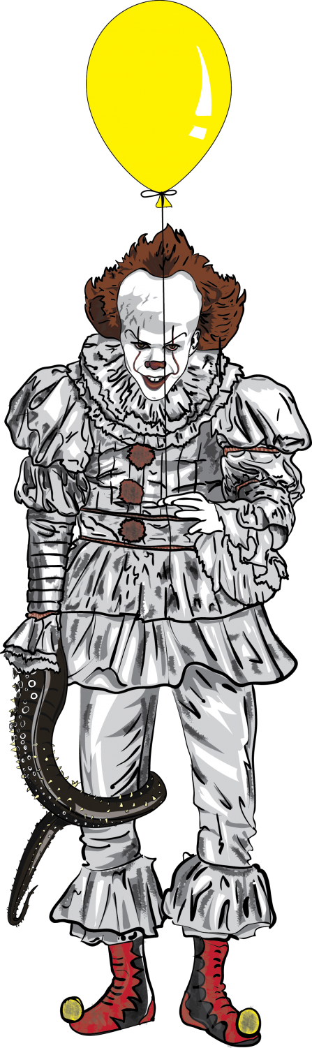 Illustration of Pennywise the clown from the new movie