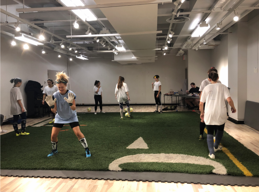 Practice+makes+perfect%3A+The+cast+of+%22The+Wolves%22+practices+soccer+skills+in+rehearsal.+The+lessons+they+learned+in+the+process+applied+to+their+own+lives%3B+Amanda+Morrow%2C+who+plays+%2325%2C+said%2C+%E2%80%9CShe+has+taught+me+how+to+be+strong.%E2%80%9D