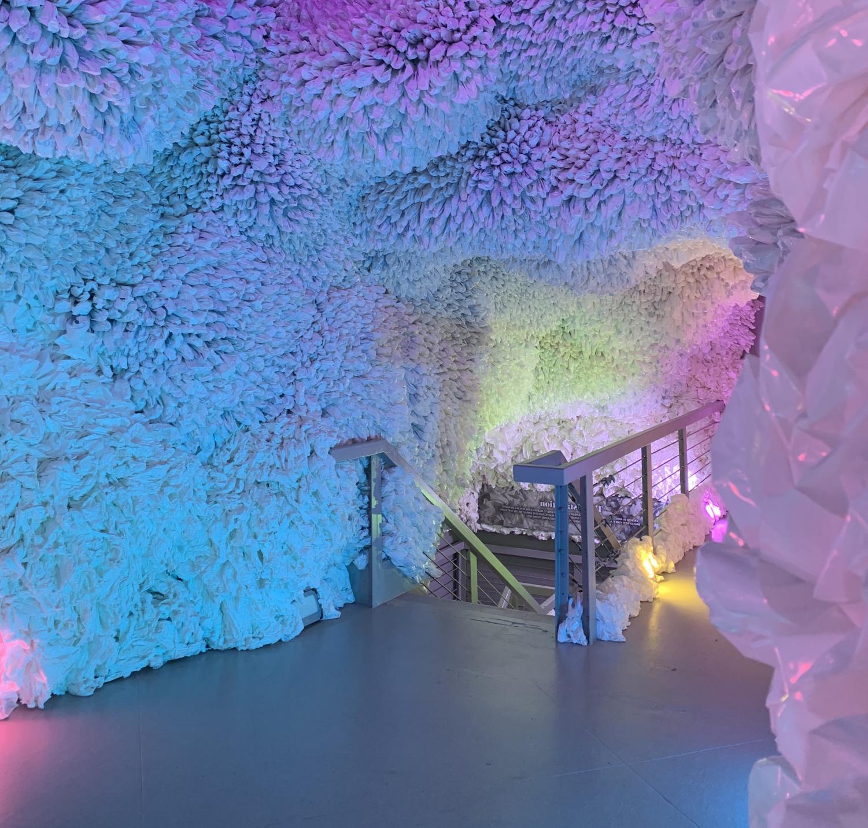 The rainbow cave seen at the Arcadia Earth exhibit.