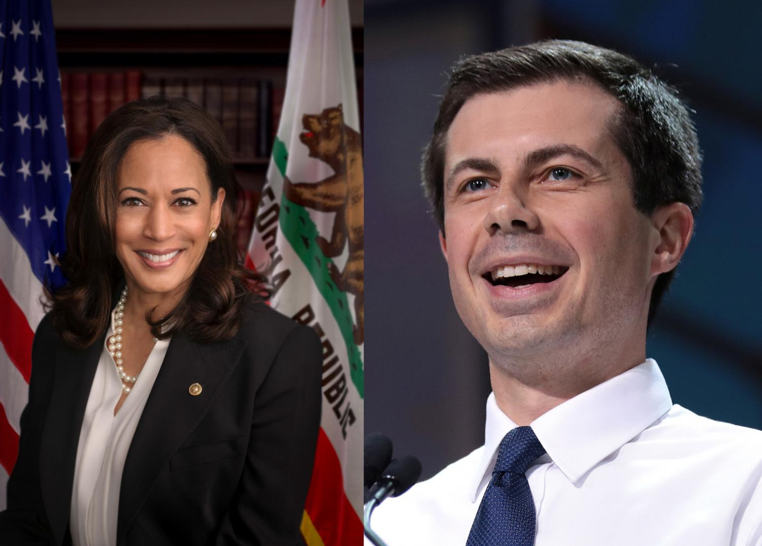 Senator Kamala Harris (left) and Mayor Pete Buttigieg (right) have both suffered in the polls as of late.