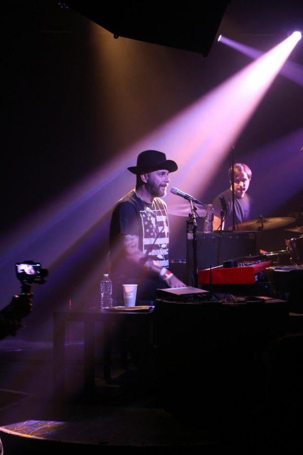 Laswell puts his own moody, melancholy spin on the songs he covers, many of which he performed at his recent concert. Afterwards, he interacted with the audience to connect with them face-to-face as well as through his music.