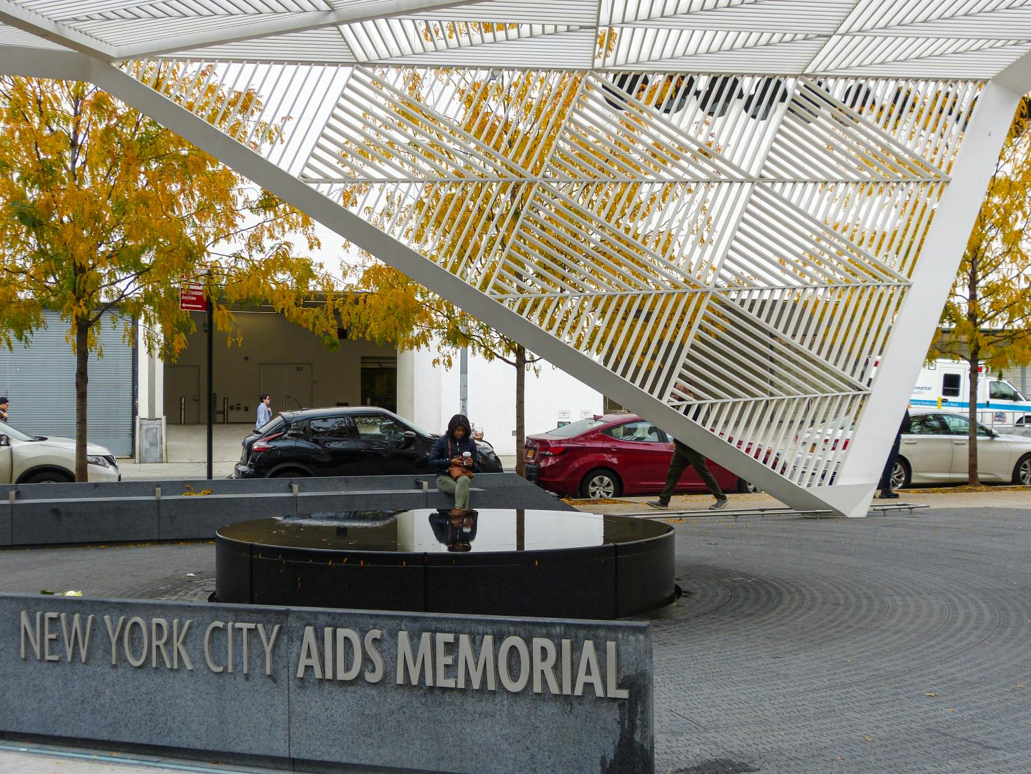 The New York City AIDS Memorial in Greenwich Village is a testament to the lives lost during the AIDS epidemic.