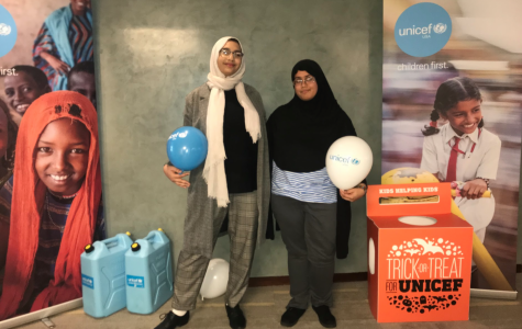 UNICEF Club President Faizah Raffat, right, with Treasurer Batool AbdelHafez, left. The UNICEF club was forced to go on hiatus this fall semester.