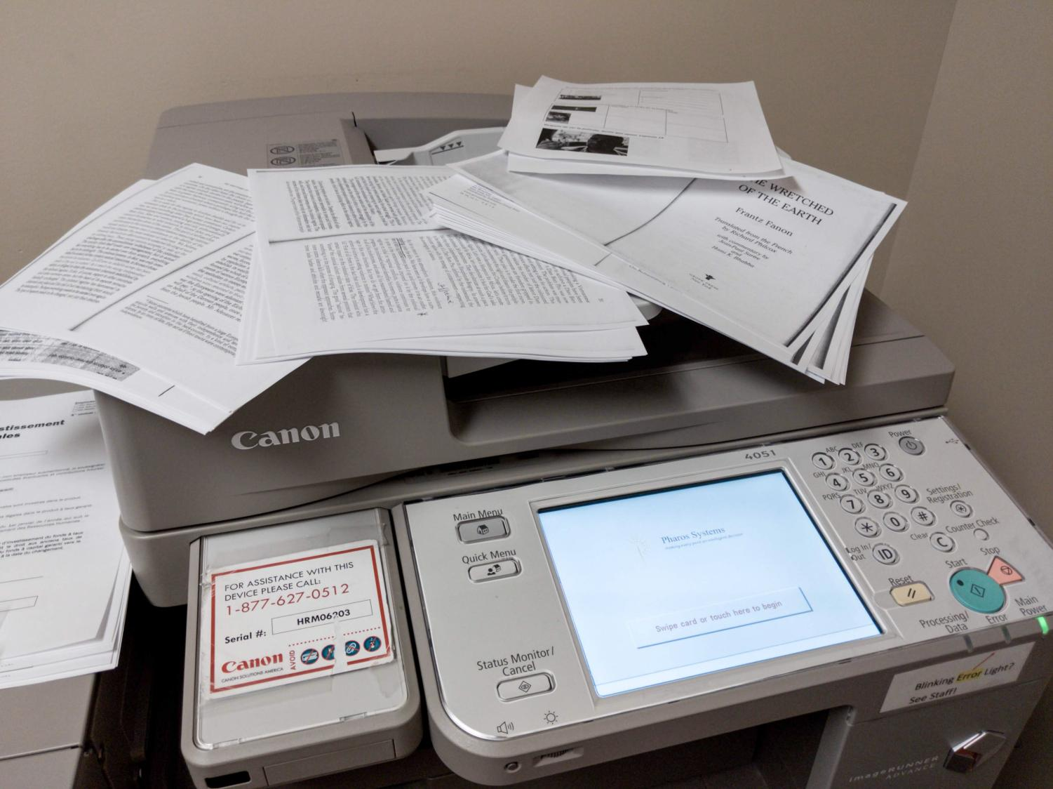 The most ideal printer locations in Lowenstein are only open to faculty.