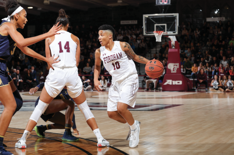 Women's Basketball Loses Valiantly in Front of Sellout Crowd