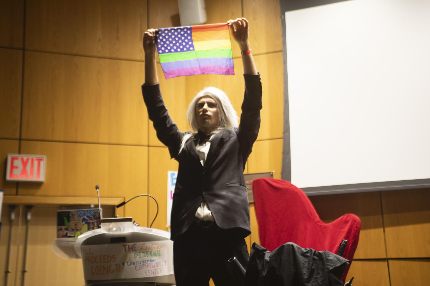Fordham's drag kings and queens performed a variety of energetic arts including magic, rock music and a death drop.