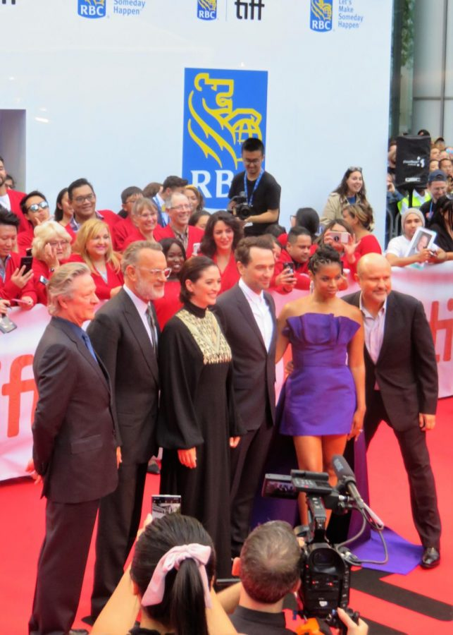 Tom+Hanks+and+other+cast+members+of+%22A+Beautiful+Day+in+the+Neighborhood%22+at+the+2019+Toronto+Film+Fest.+