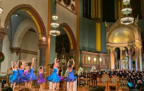 Nine Ailey dancers performed to the choirs' live rendition of