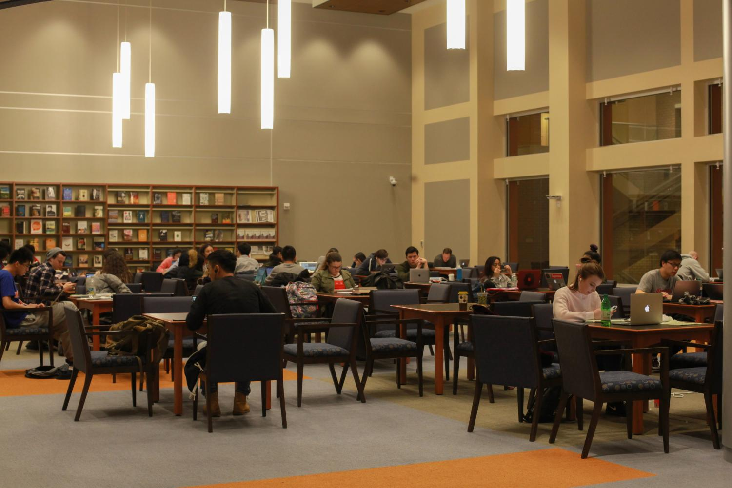 It wouldn't be finals season without Quinn Library being full of students getting some last minute studying in.