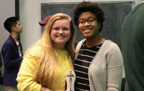 Kayla Champion, FCLC '22, (left) and Daejah Woolery, FCLC '22, are two of the student filmmakers whose movies were screened at the festival this semester.