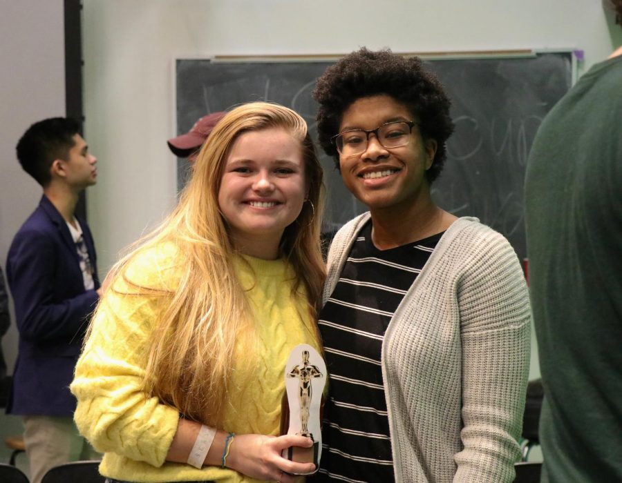 Kayla+Champion%2C+FCLC+%2722%2C+%28left%29+and+Daejah+Woolery%2C+FCLC+%2722%2C+are+two+of+the+student+filmmakers+whose+movies+were+screened+at+the+festival+this+semester.