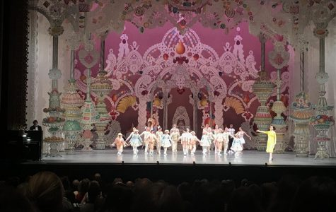 Dancers from different routines in 'The Nutcracker,' such as the Candy Cane dancers and the Sugar Plum Fairy, performed at the event.