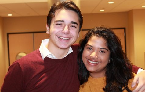 USG President Tina Thermadam (right) and Vice President Robert Stryczek (left) hope to improve communication.