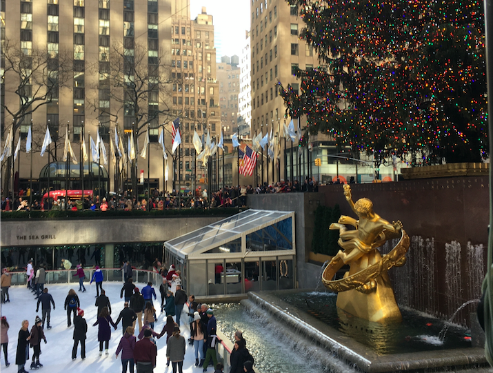 Happy holidays from New York! Did you know there are 50,000 LED lights wrapped around the tree in Rockefeller Center?