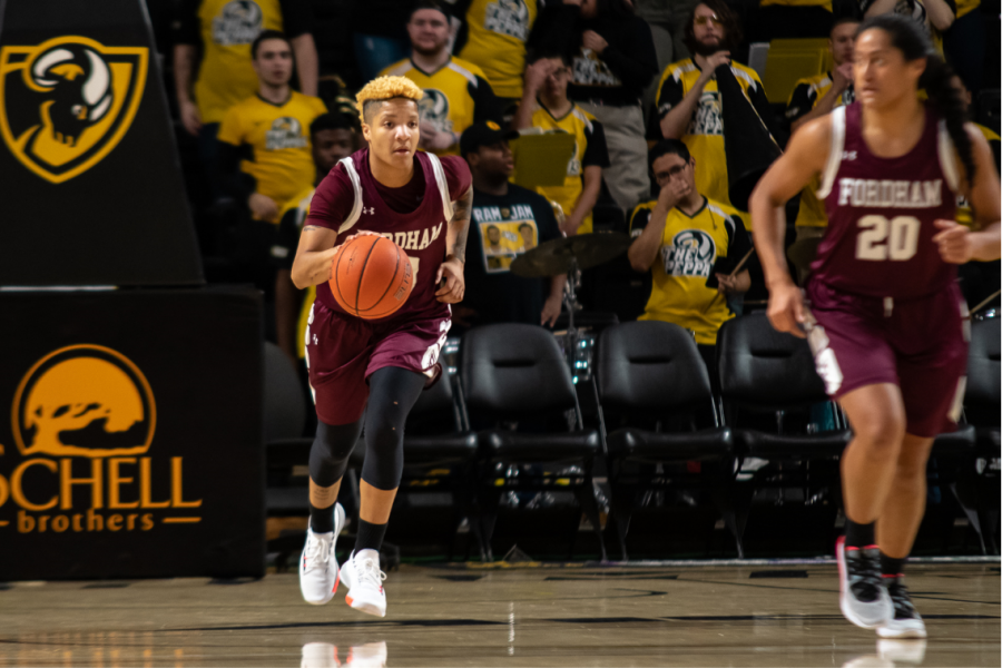 Offensive woes and early foul trouble led to a tough Fordham defeat on the road.