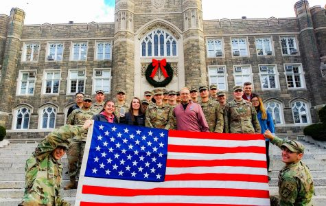 ROTC cadets come from schools around NYC to join Fordham's program, which is know as the Ram Battalion.