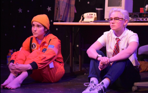 """Rice (right) and Roland's (left) previous play, """"Houston, We Have a Problem,"""" premiered at The Tank in December."""
