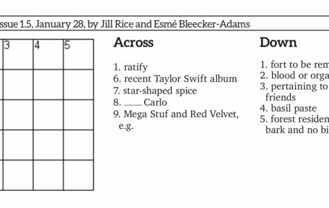 Issue 1.5 Mini Crossword