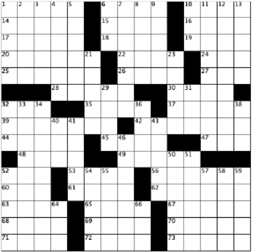 blank crossword grid