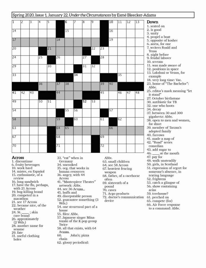 Crossword+Issue+1%3A+Under+the+Circumstances