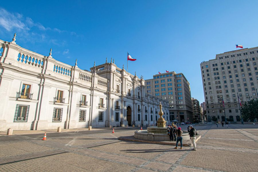 La Moneda Palace, the seat of the President of the Republic of Chile