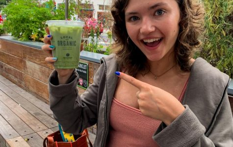 Tessa Burns, FCLC '23, uses her Instagram account, @therawalmond, to show that it's not hard to be healthy.