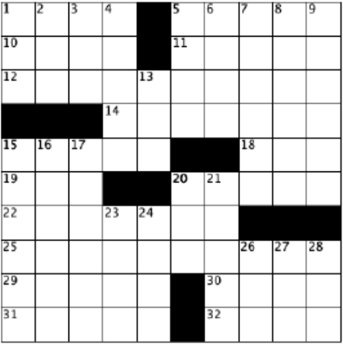 blank crossword grid, 10 by 10