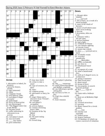 Crossword Issue 3: Suit Yourself