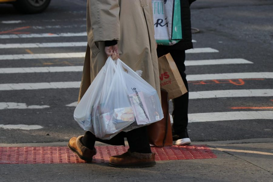 "In New York, plastic bags must have a lifespan of at least 125 uses for carrying up to 22 pounds a distance of 175 feet to be considered ""reusable"" and in compliance with state regulations."