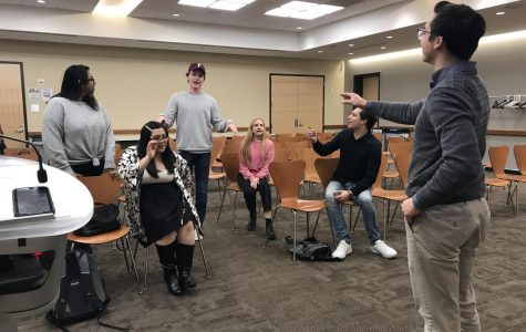 USG Vice President Robert Stryczek talks to students about their concerns at the second town hall meeting.