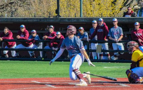 Matt Tarabek, GSBRH '20, blasted a two-run home run in Fordham's third game to give the Rams an early 5-0 lead.