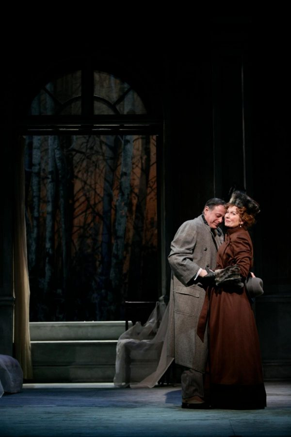 "Mark Blum acts alongside Kate Burton in a 2007 production of ""The Cherry Orchard"" with Huntington Theatre Company in Boston, one of many shows in Blum's storied career."