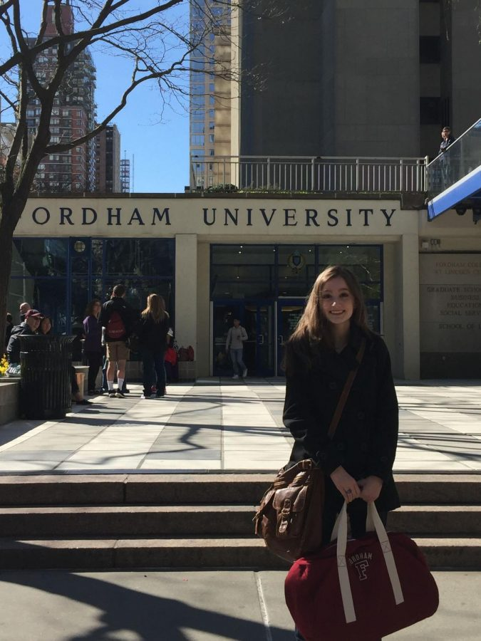Courtney+Brogle%2C+FCLC+%E2%80%9920%2C+looks+back+on+her+freshman+year+and+examines+the+countless+memories+that+Fordham+has+gifted+her.