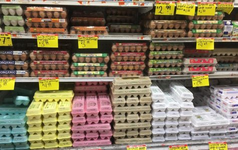 eggs on a grocery store shelf